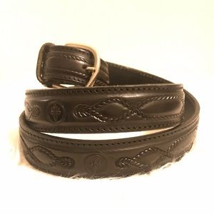 Vera Pelle tooled leather belt